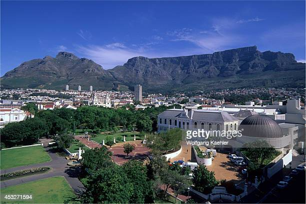 South Africa, Cape Town, View Of Southican Museum, Table Mountain.