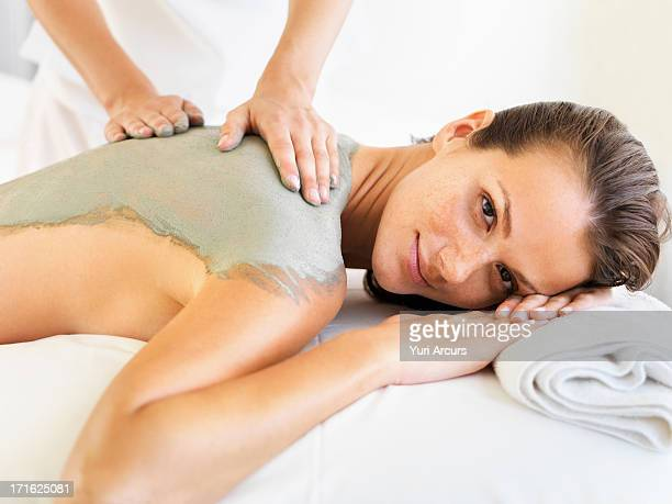 South Africa, Cape Town, Woman receiving spa treatment