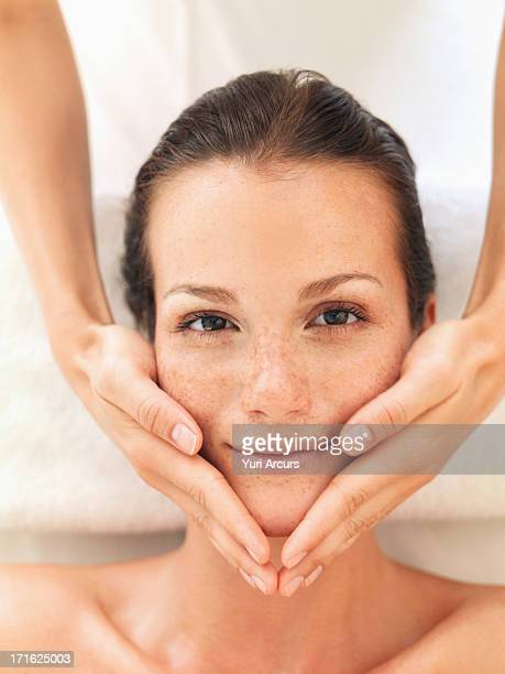 South Africa, Cape Town, Woman relaxing in spa