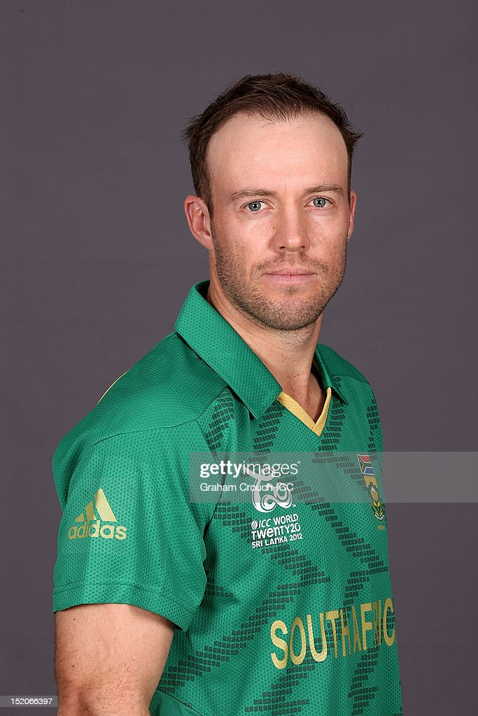 South Africa captain A.B. de Villiers poses at a portrait session ahead of the ICC T20 World Cup on September 16, 2012 in Colombo, Sri Lanka.