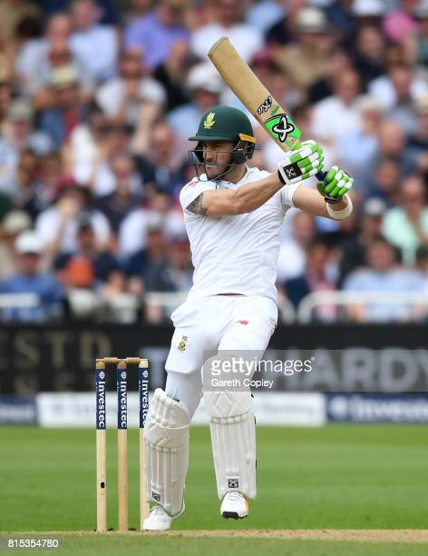 South Africa captain Faf du Plessis during day three of the 2nd Investec Test match between England and South Africa at Trent Bridge on July 16 2017...
