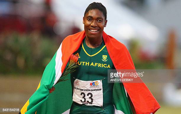 South Africa Caster Semenya wins the 800m final for women during day 5 of the Confederation of African Athletics Championships held in Durban on June...