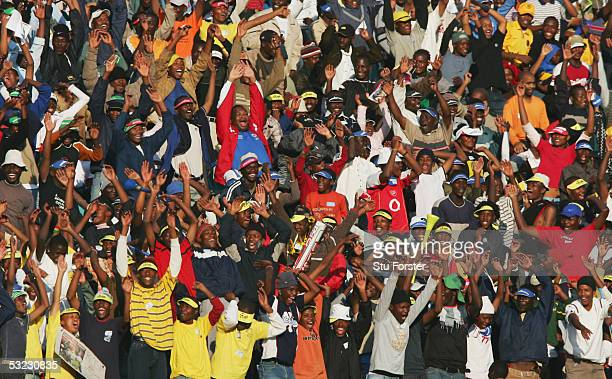 South Africa fans during the 2006 World Cup and African Cup of Nations Qualifying match between South Africa and Ghana at FNB Stadium, on June 18,...