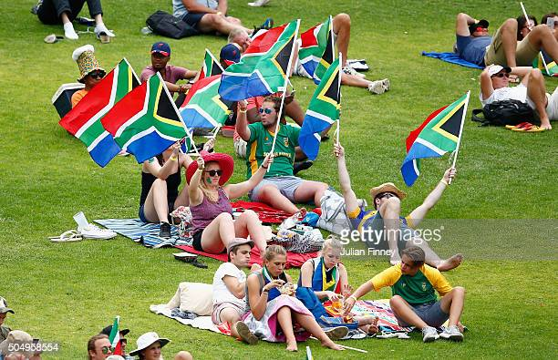 South Africa fans show their support during day one of the 3rd Test at Wanderers Stadium on January 14 2016 in Johannesburg South Africa