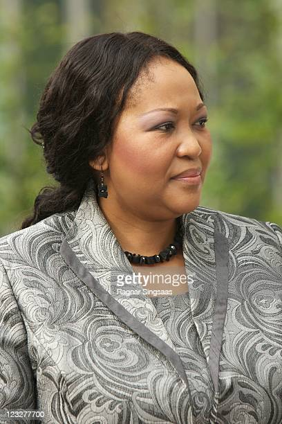 South Africa First Lady Thobeka Madiba visits the cancer department at Ulleval University Hospital on the second day of the South Africa state visit...