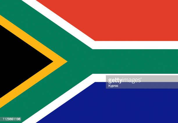south africa flag - republik südafrika stock-fotos und bilder