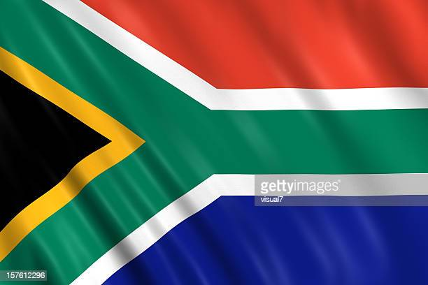 south africa flag - south african flag stock photos and pictures