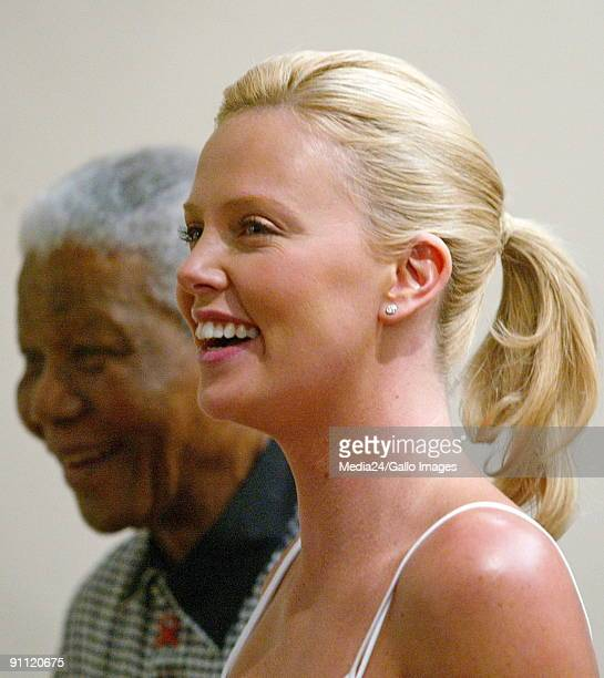 South Africa Gauteng Johannesburg Acadamy award winning actress Charlize Theron in South Africa after winning the Oscar for Best Actress for her role...