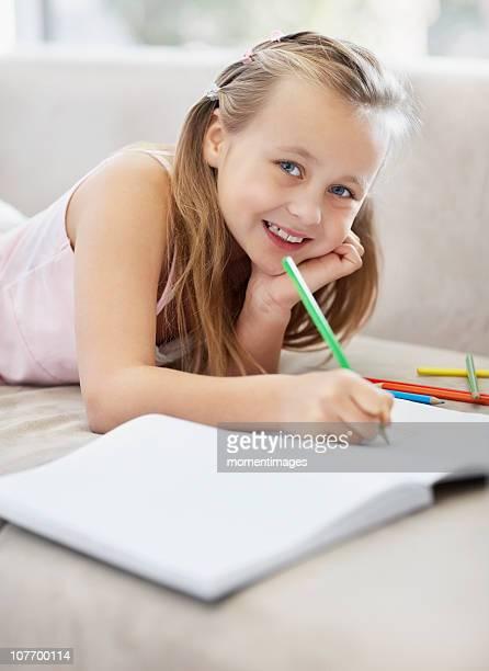 South Africa, Girl (10-11) doing homework