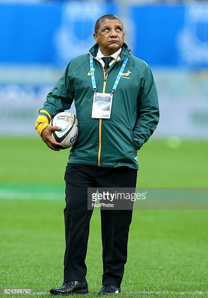 South Africa head coach Allister Coetzee during the international match between Italy v South Africa at Stadio Olimpico on November 19 2016 in Rome...
