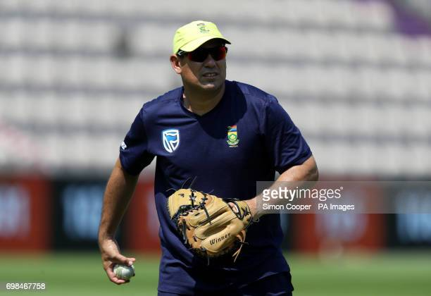 South Africa head coach Russell Domingo during a nets session at The Ageas Bowl Southampton
