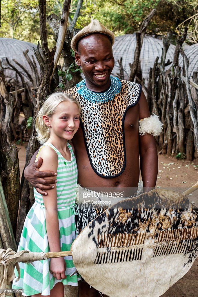 South Africa Johannesburg Lesedi Lodge Cultural Village Zulu Tribe Man Native Regalia Traditional Dress