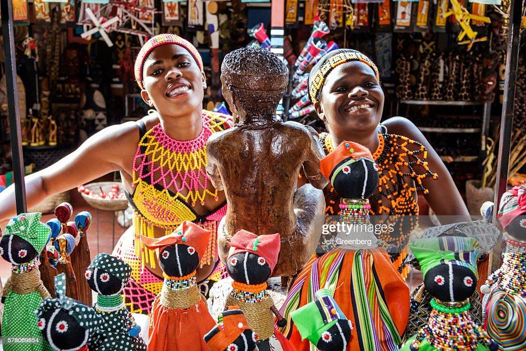 South Africa Johannesburg Lesedi Lodge Cultural Village Zulu Xhosa Pedi Basotho Ndebele Tribeswoman Arts Crafts