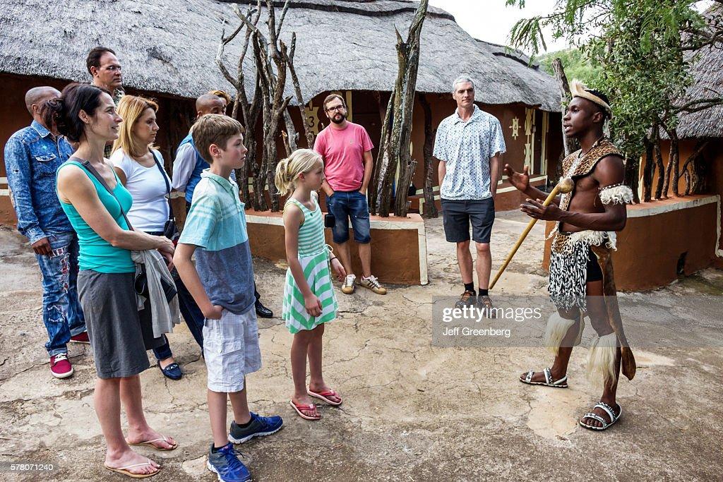 South Africa Johannesburg Lesedi Lodge Cultural Village Zulu Xhosa Pedi Basotho Ndebele Tribesman Native Regalia