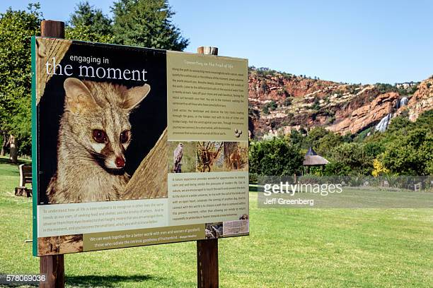 South Africa Johannesburg Roodepoort Walter Sisulu National Botanical Garden Witwatersrand sign information nature