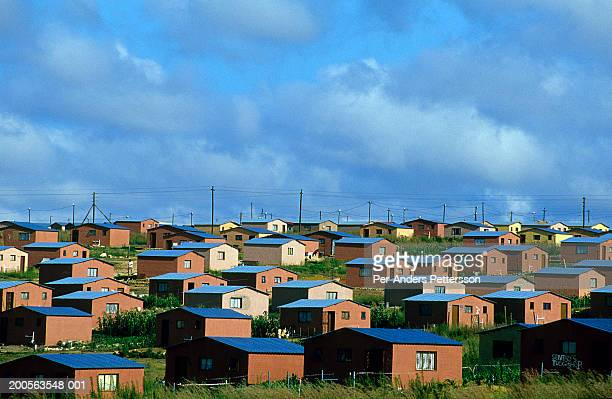 south africa, johannesburg, soweto, colourful houses - soweto stock pictures, royalty-free photos & images