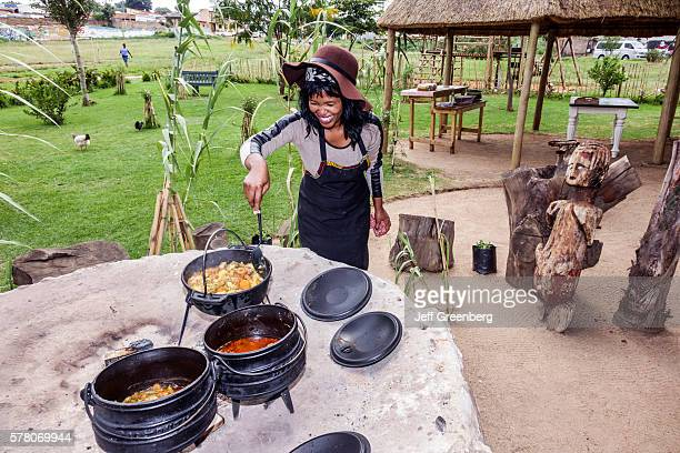 South Africa Johannesburg Soweto Lebo's Backpackers Hostel woman cooking cook kettle