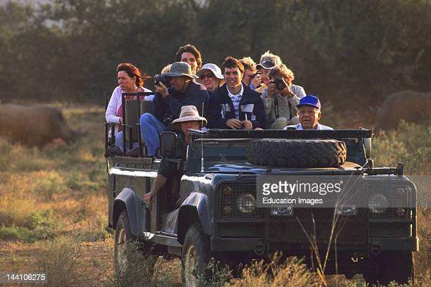 South Africa Kruger National Park Tourists On Safari