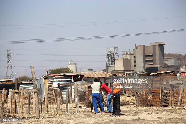 MARIKANA South Africa Makeshift housing for workers is seen near a platinum mine in Marikana South Africa on Sept 4 2012