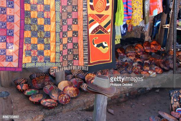 South Africa, Mpumalanga Province, Graskop, Blyde River Canyon, handicraft product for sale on a market place