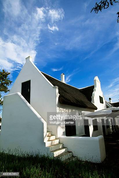 South Africa Near Cape Town Stellenbosch Wine Country Spier Estate Dutch Colonial Architecture