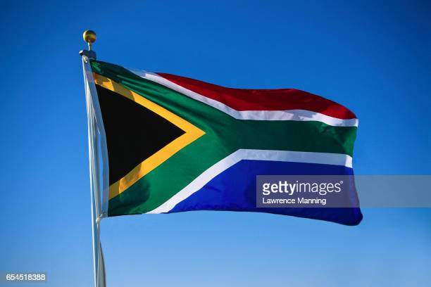 south africa - south african flag stock photos and pictures