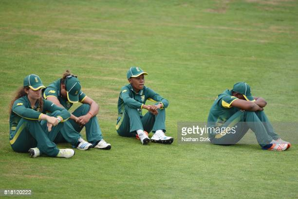 South Africa players look in disappear after lose during the SemiFinal ICC Women's World Cup 2017 match between England and South Africa at The...