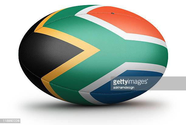 south africa rugby ball - south africa rugby stock photos and pictures