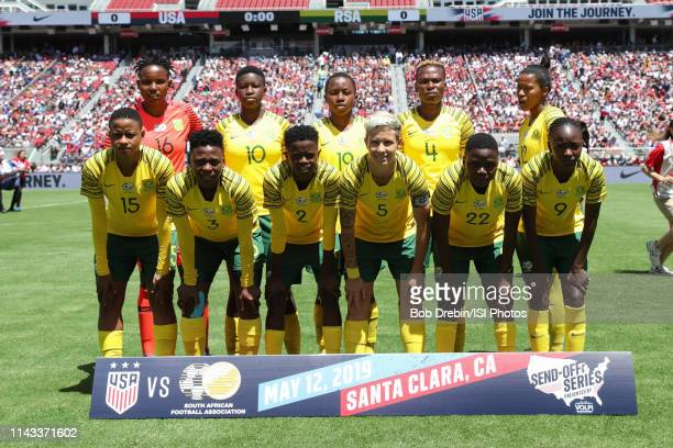 South Africa Starting Eleven during an international friendly match between the womens national teams of the United States and South Africa on May 12...