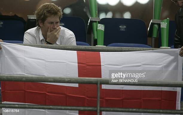 South Africa team England team and Prince Harry in Paris France on October 20th 2007