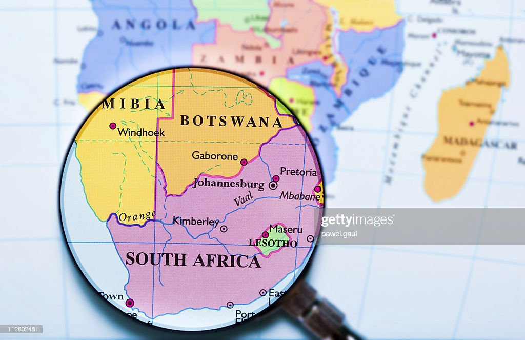 South Africa under loupe : Stock Photo