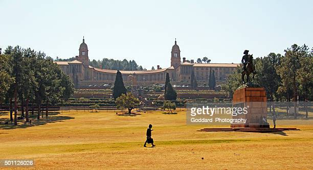 south africa: union buildings in pretoria - pretoria stock pictures, royalty-free photos & images