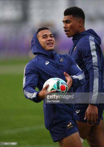 South Africa wing Cheslin Kolbe in action during South Africa Springboks training on October 29 2019 in Urayasu Chiba Japan