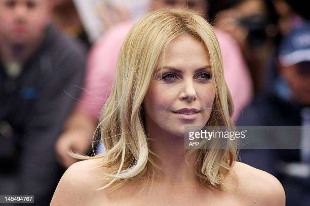 South African actress Charlize Theron arrives on the red carpet to attend the world premiere of the film 'Prometheus' in London on May 31 2012 AFP...