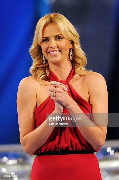 South African actress Charlize Theron helps present the Final Draw for the FIFA World Cup 2010 December 4 2009 at the International Convention Centre...