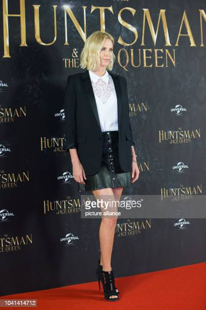 South African actress Charlize Theron poses during a photo call for the film 'The Huntsman Winter's War' in Hamburg Germany 30 March 2016...