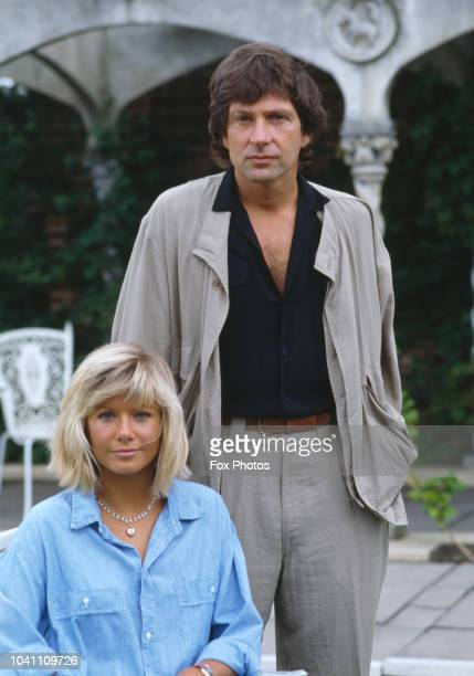 South African actress Glynis Barber with American actor Michael Brandon 1985 They are set to costar in the British television series 'Dempsey and...