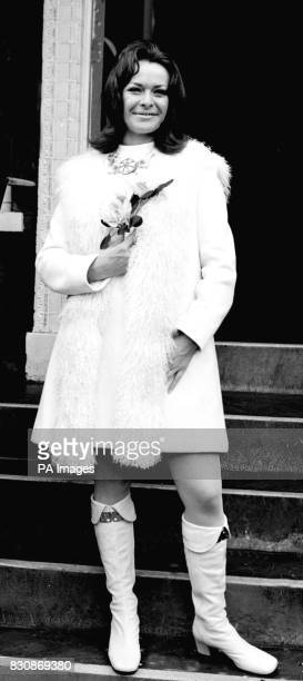 South African actress Janet Suzman after her wedding to Trevor Nunn at the Kensington Register Office London CELEBRITY