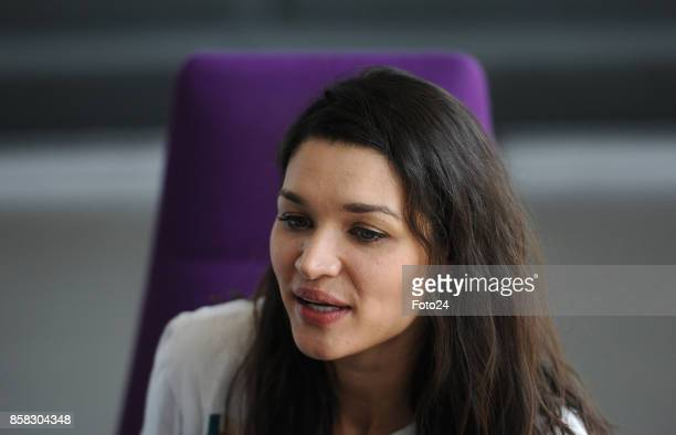 South African actress Kim Engelbrecht during an interview about her role in US superhero series The Flash on October 04 2017 in Johannesburg South...