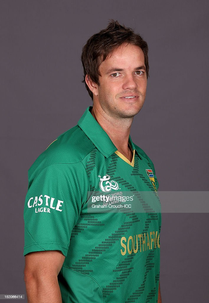 South African Albie Morkel poses at a portrait session ahead of the ICC T20 World Cup on September 16, 2012 in Colombo, Sri Lanka.