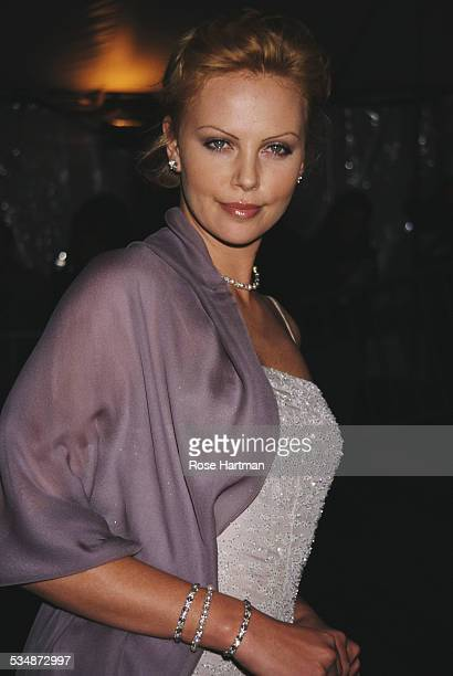South African and American actress Charlize Theron attends the Costume Institute Gala at the Metropolitan Museum of Art New York City USA 1999