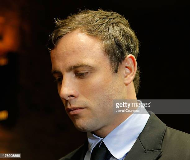 South African athlete Oscar Pistorius appears in Pretoria Magistrates Court for an indictment hearing on August 19, 2013 in Pretoria, South Africa....
