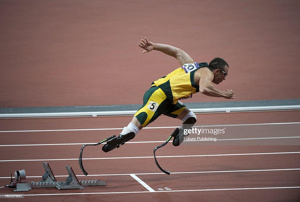 London 2012 Olympic Games - Men's 400m Heats - Oscar Pistorius
