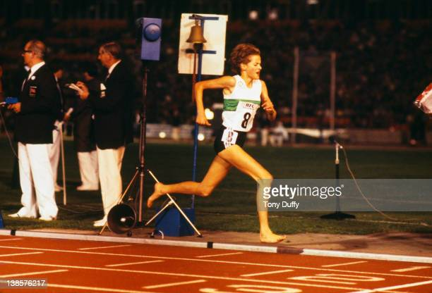 South African athlete Zola Budd in action at Crystal Palace London June 1984