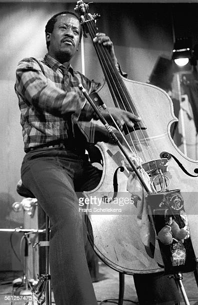 South African bass player Johhny Dyani performs on April 25th 1982 at the BIM Huis in the Amsterdam, Netherlands.