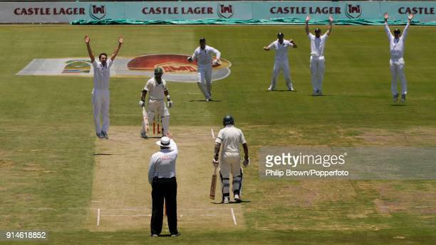 South African batsman Ashwell Prince is given out LBW to England bowler Graham Onions by umpire Steve Davis before the decision was overturned on...