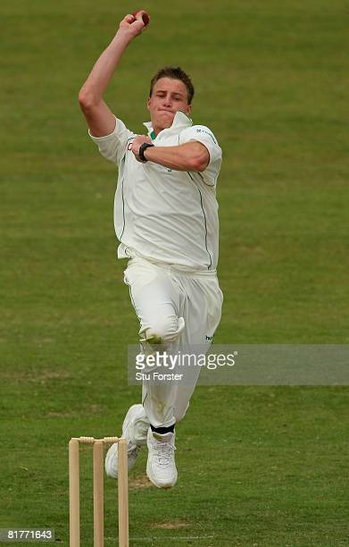 South African bowler Morne Morkel bowls during day two of the tour match between Somerset and South Africa at The County Ground on June 30 2008 in...