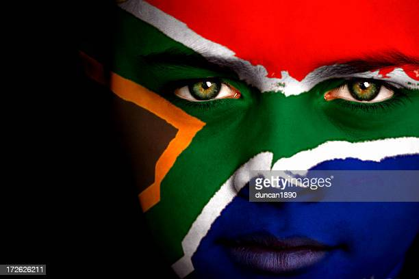 south african boy - south african flag stock photos and pictures