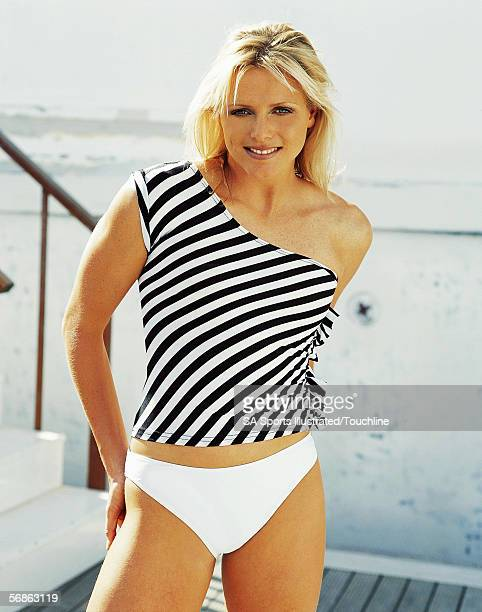 South African breaststroke swimming champion Charlene Wittstock poses for a portrait shoot for South African Sports Illustrated in November 2001 in...