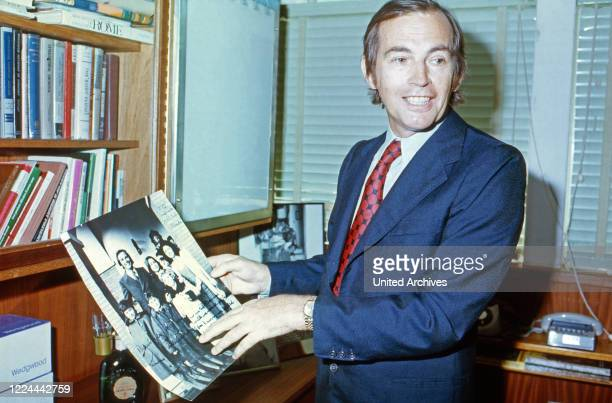 South African cardiac surgeon Christiaan Barnard at his office in Cape Town South Africa 1974